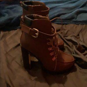 Torrid Brown Heeled Boots